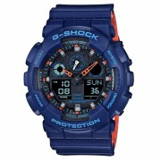 reloj digital analogico casio g-shock GA-100L-2A-azul