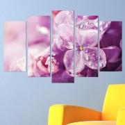 Декоративeн панел за стена с флорален дизайн в лилава гама Vivid Home