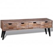 vidaXL Comodă TV cu 4 sertare, lemn de tec reciclat