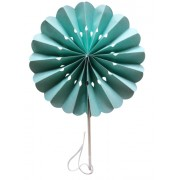 Mint Flower Paper Fans (packs of 10)