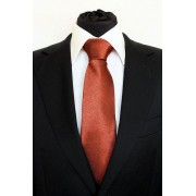 Pánská vínová vzorovaná klasická kravata - 8 cm