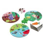 """DJECO Gra karciano planszowa """"3 światy"""" ze zwierzątkami - dla dzieci 2 lata +, DJ08553"""
