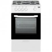 Cocina de gas Beko CSG 42009 DW Independiente Color blanco