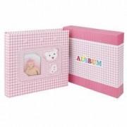 Album Little Bear personalizabil 200 poze 10x15 slip-in spatiu notite roz