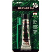 Clubman Moustwax With Brush White (Neutral) by Pinaud Clubman