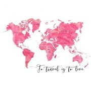 to travel is sticker poster|travelling quotes|for travellers|size:12x18 inch|multicolor