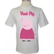 Camiseta Peppa Pig Vovó Pig - Coleção Peppa Pig