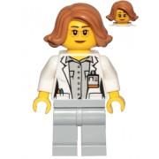cty1035 Minifigurina LEGO City-Savant botanist fata cty1035