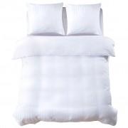 Sonata Спално бельо от 3 части памучен сатен 200x200/60x70 см бяло