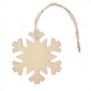 Houten Sneeuwvlok met touwtje