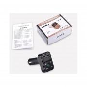 Kit De Coche Bluetooth USB Adaptador De Radio Inalámbrica Transmisor FM Cargador Negro Reproductor De MP3