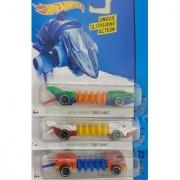 HOT WHEELS Mutant STREET SHARK (2 PCS) + POWER TREAD Machine Vehicle ( Set of 3)