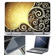 FineArts Laptop Skin Abstract Series 1014 With Screen Guard and Key Protector - Size 15.6 inch