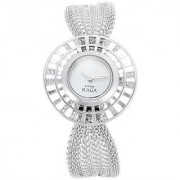 Titan Quartz Silver Round Women Watch 9931SM01