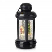 Glitter-filled decorative lantern Cosy LED black