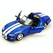Dodge Viper Convertible, Blue/White - Maisto 34932/45-1/24 Scale Diecast Model Toy Car