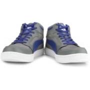Puma Rebound Mid Lite DP Men High Ankle Sneakers For Men(Grey, Blue)