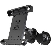 RAM Double Twist Lock Suction Cup Mount with Tab-Tite Universal Spring Loaded Cradle for the Apple iPad 1-4 With Or Without Light Duty Case