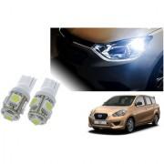 Auto Addict Car T10 5 SMD Headlight LED Bulb for Headlights Parking Light Number Plate Light Indicator Light For Datsun Go+