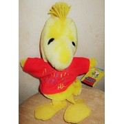"""Peanuts 11"""" Plush Chirping Woodstock Large Hand Puppet Snoopy Pawpets"""