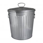 Xenos Afvalbak zilver - 18 liter