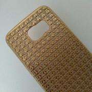 Калъф за Samsung S6 Edge G925 силиконов гръб златен Grid