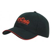 Headwear Professional Six Panel Double Pique Mesh Cap With Open Sandwich 4185