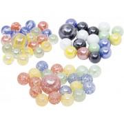 Üveggolyó játék készlet 21 db-os, színes