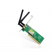 TARJETA DE RED INALAMBRICA TP-LINK PCI N300 2dBi TL-WN851ND-verde