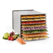 Klarstein Fruit Jerky Pro 8 Automatic Food Dehydrator 630W 8 Levels Stainless Steel