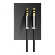 Cablu audio smart cu mufa jack 3.5 mm pentru Aux Black
