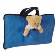 Sac de dormit pentru calatorii cu ursulet de plus inclus Tuloko TL004 B3406437 - Albastru