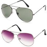 Magjons Aviator Sunglasses Combo Set of 2 With box MJ7753