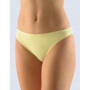 GINA Kalhotky úzký bok,jednobarevné 10076-LYB žltobílá 34-36
