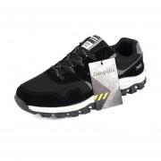 1 Par De Hombres Transpirable Zapatos Casuales Ejecutando Viajes Zapatillas Para Verano Otoño Negro