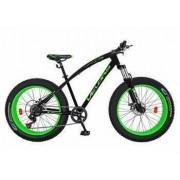 Bicicleta Fat Bike VELORS V2600A cadru otel culoare negru-verde