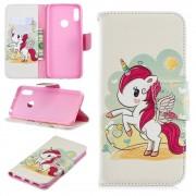 Huawei Y6 2019 / Honor 8A / Honor Play 8A (калъф кожен) 'Cute Unicorn'