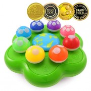 BEST LEARNING Mushroom Garden - Interactive Educational Light-Up Toddler Toys for 1 to 3 Years Old Infants & Toddlers - Colors, Numbers, Games & Music