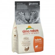 12кг Holistic Almo Nature суха храна за котки, пуешко и ориз