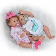 20 /50 Cm Double Reborn Full Body Silicone Reborn Bébé Poupées Pour Vente Bebe Reborn Com Corpo De Silicone Menina Menino