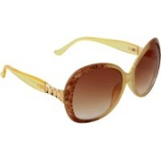 Zyaden Oval Sunglasses(Brown)