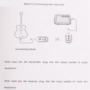 ELECTROPRIME® Portable Wireless Audio Transmitter Receiver System Guitar Bass Ukulele Part