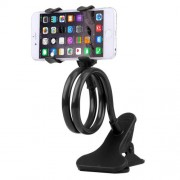 Universal Multifunctional Flexible Long Arm Lazy Bracket Desktop Headboard Bedside Car Phone Holder Stand Tablet Mount with Clamping Base for iPhone iPad Samsung HTC Sony Google Huawei Xiaomi Meizu OPPO(Black)