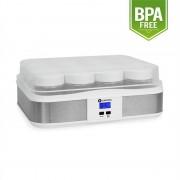 Klarstein Gaia, 12 pohár, joghurt készítő gép, időzítő,fehér (TK17-GAIA)