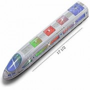 DY Speed Train EMU Express Bullet Train with 3D Flash Light Music Gift Toy for Kids