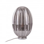 Leitmotiv Smart Oval - Lampe à poser en verre H31cm - Couleur - Gris fumé