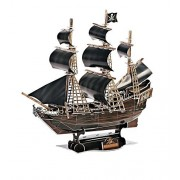 3D Jigsaw Puzzle Ship Model Pirate Ship Toy Boat for Kids the Queen Anne's Revenge Model