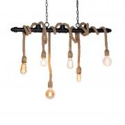 QAZQA Industrial hanging lamp black 6-light - Plural