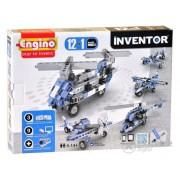 Set de montare modele Engino Inventor, Avioane, 12 in 1