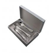 Детски комплект прибори за хранене от 3 части Herdmar Turini в луксозна кутия